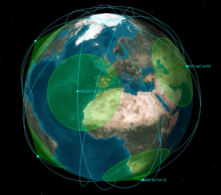 new illustration SAT-AIS or the Link between SPACEBEL and Maritime Traffic Monitoring