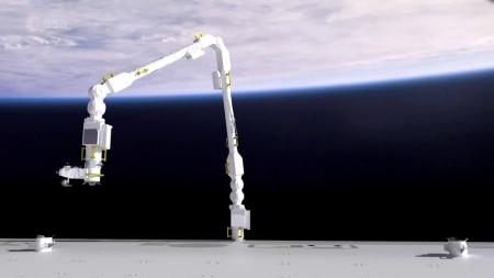 Illustration de la new ERA: Un nouveau bras pour l'ISS - Une histoire de persévérance européenne - Un contrat à long terme pour SPACEBEL