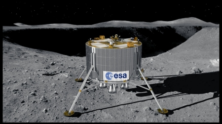 new illustration SPACEBEL Heading for the Moon Again … with Lunar Lander